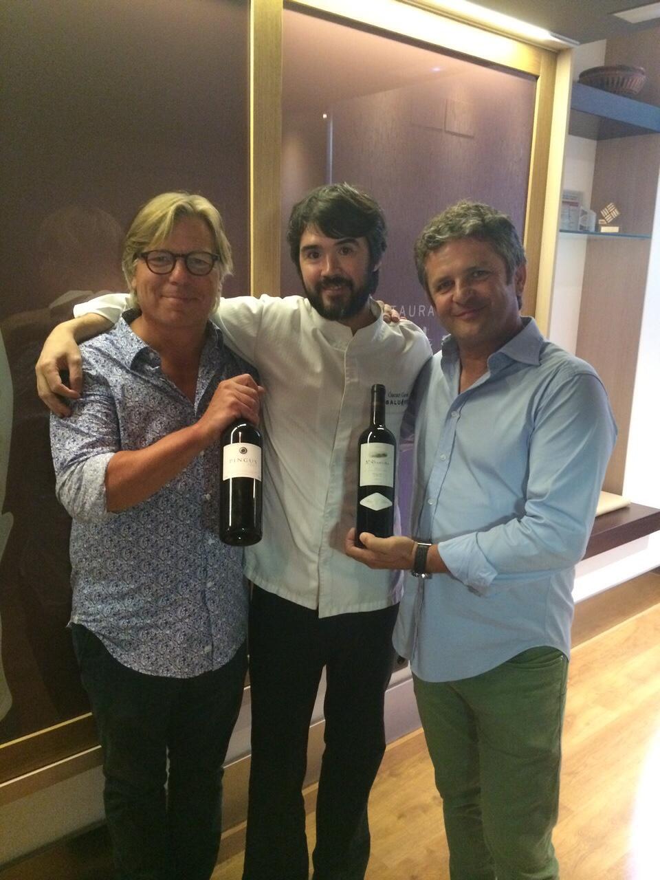 Con Peter Sisseck y Álvaro Palacios